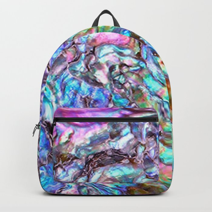 Shimmery Rainbow Abalone Mother of Pearl Rucksack