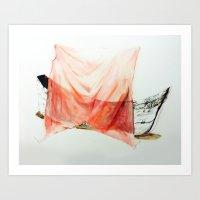 Shrouded Ship Art Print
