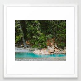 Blue As Blue Framed Art Print