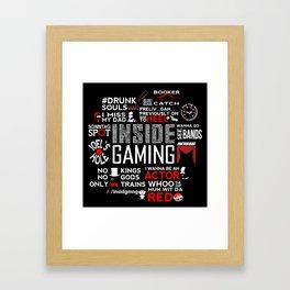 InsideGaming - A look back Framed Art Print