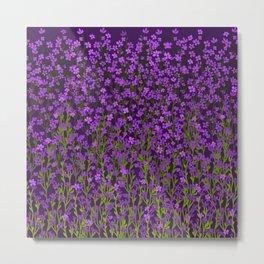 Violets Meadow Metal Print