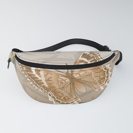 Beautiful Copper Butterfly Design Fanny Pack