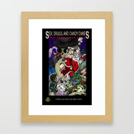 Sex, Drugs, and Candy Canes: The Santa Claus Story Framed Art Print
