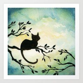 Lily Sitting in the Center of the Sky Art Print