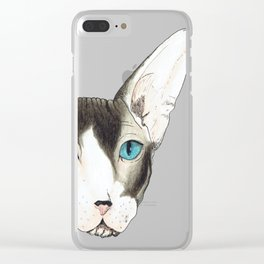 Hairless Cat Clear iPhone Case