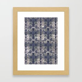 Blue Repeat Framed Art Print