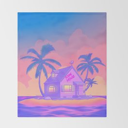 80s Kame House Throw Blanket