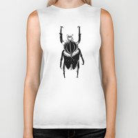 beetle Biker Tanks featuring Beetle  by Lana Alana