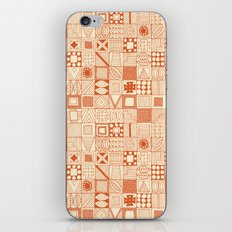 wolf geo orange ivory iPhone Skin