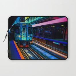Brown Line Approaching Laptop Sleeve