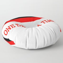 One Day at a Time (red brick) Floor Pillow