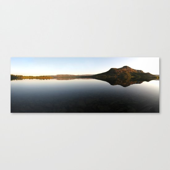 lake mirror panorama, finland. Canvas Print