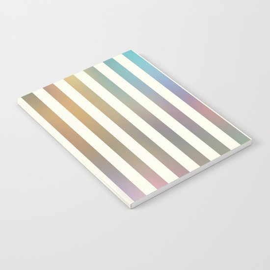Striped Pattern in Pastel Colors Notebook