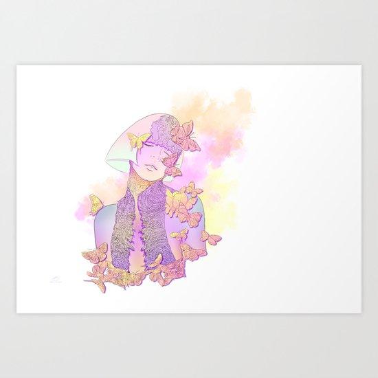 Butterfly Princess Art Print