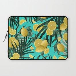 Summer Lemon Twist Jungle #1 #tropical #decor #art #society6 Laptop Sleeve