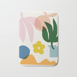 Abstraction_Floral_002 Bath Mat