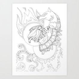 Creation of Saphelites Art Print