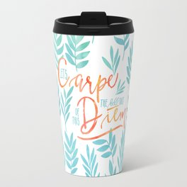 Let's Carpe The Hell Out Of This Diem - Watercolor Travel Mug