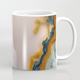 Translucent Teal & Rust Agate Coffee Mug