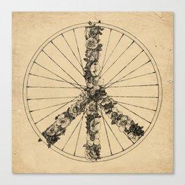Peace & Bike (Lines) Canvas Print