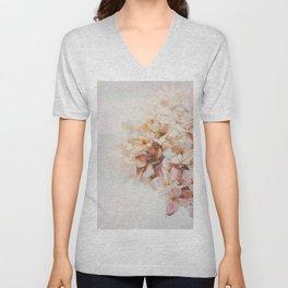 Pastel Pink Hydrangea Unisex V-Neck