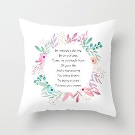 Be nobody's darling - A. Walker Collection Throw Pillow