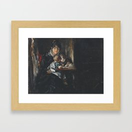 John Constable 1776–1837   Maria Constable with Two of her Children Framed Art Print