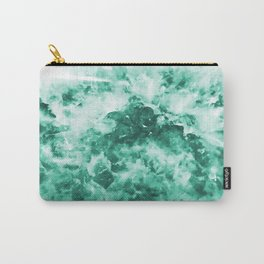 Teal Pattern Carry-All Pouch