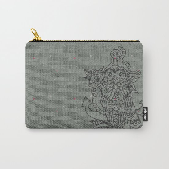 owl, roses & anchor Carry-All Pouch