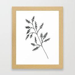 Branch White Framed Art Print