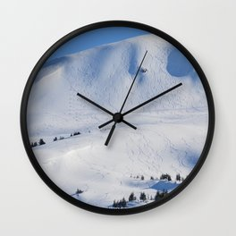 Back-Country Skiing  - III Wall Clock