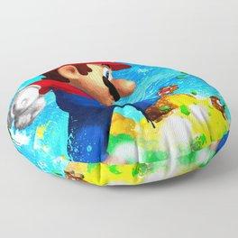 Super Mario Van Gogh style Floor Pillow