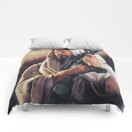 Assault Rifle Jesus Christ Messiah - Who WOuld Jesus Shoot Comforters