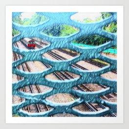 Tubular Tracks Art Print