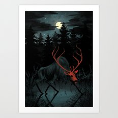 Red Elk Art Print