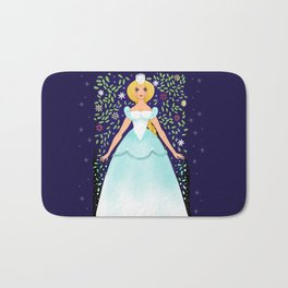 The Winter Fairy Brings The First Frost Bath Mat