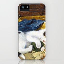 Kitten Playing - Julius Anton Adam iPhone Case