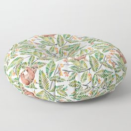 Happy Sloth – Tropical Green Rainforest Floor Pillow