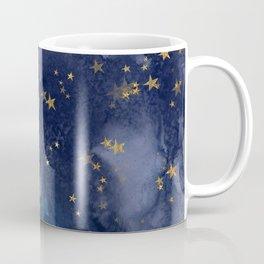 Gold stardust night sky Coffee Mug