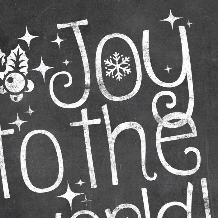 Joy to the world chalkboard christmas lettering Leggings