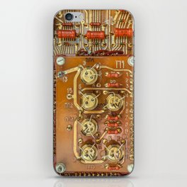 Electronic circuit board iPhone Skin