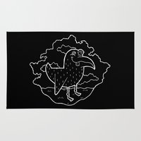 kevin russ Area & Throw Rugs featuring Bird Stuff by Kevin Berquist by UCO Design