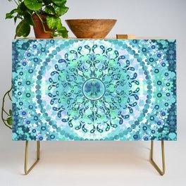Aqua Mosaic Mandala Credenza