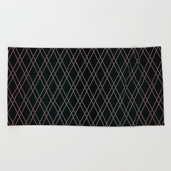 Black Diamonds. Beach Towel