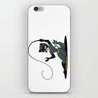 catwoman iPhone & iPod Skins featuring Catwoman  by Katie Simpson a.k.a. Redhead-K