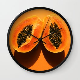 Pop Papaya Wall Clock