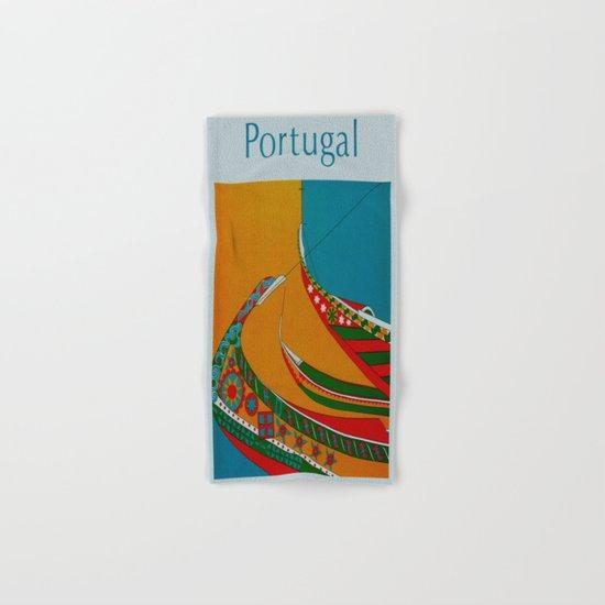 Portuguese Fishing Boats - Vintage Travel Hand & Bath Towel