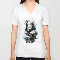 marilyn V-neck T-shirts featuring Marilyn. by Emiliano Morciano (Ateyo)