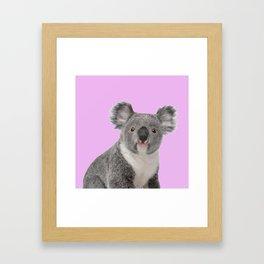 Pretty Cute Koala Framed Art Print