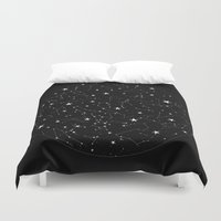 constellations Duvet Covers featuring Constellations by Rachel Buske